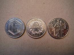 P9   3 X 1 Franc Commémoratif - 1988, 1992, 1996 - De Gaulle, Marianne, Rueff - Frankreich