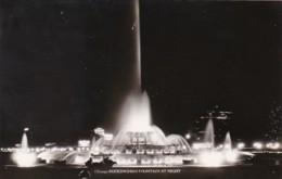Illinois Chicago Buckingham Fountain At Night Real Photo - Chicago
