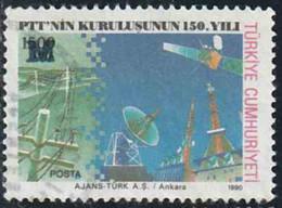 """Turquie 1996 Yv. N°2833 - Surcharge """"M"""" Sur 1500L - Oblitéré - 1921-... République"""