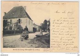 Cpa..47..ESCASSEFORT..ARRIVEE DU BOURG..BELLE ANIMATION..A VOIR.. - Frankrijk