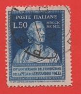 1949 (612) La Pila Di Volta Lire 50 Usato Dent 14 1/4 X 14 1 /4 - Leggi Il Messaggio Del Venditore - 6. 1946-.. República