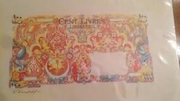 Lebanon Liban Banknotes Sketch Unique 100  Lira 1945 By Paul Koroleff - Liban