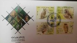 L) 2011 IRAN, WWF, OWL, NATURE, BIRDS, OWLET, FAUNA, MULTIPLE STAMPS, FDC - Iran