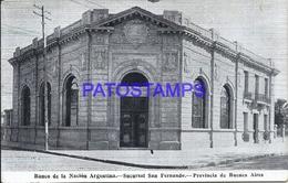 104983 ARGENTINA BUENOS AIRES SAN FERANNDO BANK BANCO DE LA NACION POSTAL POSTCARD - Argentine