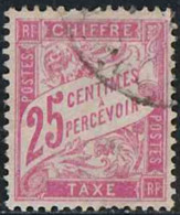 France 1893 Taxe Yv. N°32 - 25c Rose - Oblitéré - Taxes