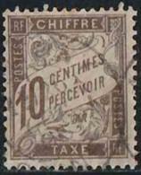France 1893 Taxe Yv. N°29 - 10c Brun - Oblitéré - Taxes