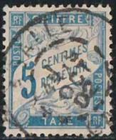 France 1893 Taxe Yv. N°28 - 5c Bleu - Oblitéré - Taxes