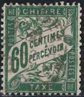 France 1893 Taxe Yv. N°38 - 60c Vert - Oblitéré - Taxes