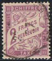 France 1893 Taxe Yv. N°42 - 2F Violet - Oblitéré - Taxes