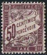 France 1893 Taxe Yv. N°37 - 50c Lilas - Oblitéré - Taxes