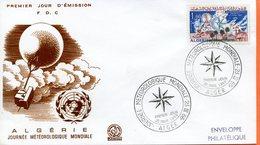"""Algérie,; FDC 1966 """" Journée Mondiale De La Météorologie. """" - Algeria (1962-...)"""