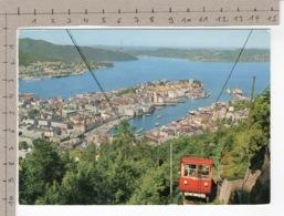 Bergen - Utsikt Fra Fløyen / View From Fløyen (1977) Funiculaire / Funicular / Funiculare / Seilbahn / Cable Incline - Norvège