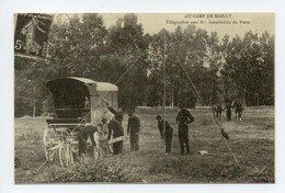 REPRODUCTION: Au Camp De Mailly, Telegraphie Sans Fil, Installation Du Poste, Telegraphe (18-3637) - Weltkrieg 1914-18