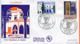 """Algérie,Algéria ; FDC 1967 """" L'art Musulman En Algérie  """" - Algérie (1962-...)"""