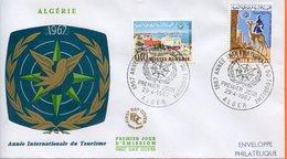 """Algérie,; FDC 1967 """" Année Internationale Du Tourisme. """" - Algeria (1962-...)"""