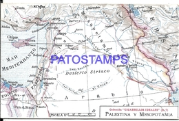104987 ARGENTINA PUBLICITY COMMERCIAL EL CIGARRILLO IDEALES & MAP MAPA PALESTINA Y MESOPOTAMIA POSTAL POSTCARD - Argentina