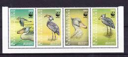 2018-0008 République Centrafricaine 1999 Balaeniceps Rex WWF Complete Set Mi 2211-2214 MNH ** - W.W.F.