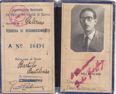 ASSOCIAZIONE NAZIONALE FRA MUTILATI ED INVALIDI DI GUERRA  /  Tessera Di Riconoscimento _ - Documents Historiques