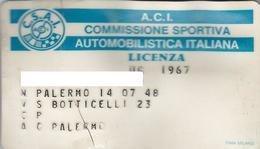 A.C.I. AUTOMOBILE CLUB PALERMO  /  Tessera Di Riconoscimento Per Ufficiale Di Gara _Marche Di Vidimazione Annuale - Documents Historiques