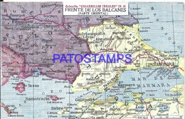 104990 ARGENTINA PUBLICITY COMMERCIAL EL CIGARRILLO IDEALES & MAP MAPA FRENTE DE LOS BALCANES POSTAL POSTCARD - Argentine