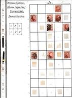 BELGIQUE 40c N°16 Planchage Partiel 50 Timbres Voir Scans. Auteur Inconnu. 2€ Par Timbre Vendu En Lot - 1863-1864 Médaillons (13/16)