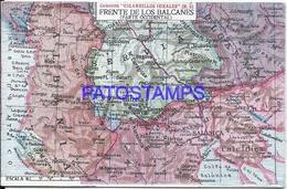 104991 ARGENTINA PUBLICITY COMMERCIAL EL CIGARRILLO IDEALES & MAP MAPA FRENTE DE LOS BALCANES  POSTAL POSTCARD - Argentine