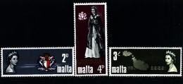 MALTA - 1967  ROYAL  VISIT  SET  MINT NH - Malta