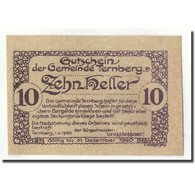 Billet, Autriche, Ternberg, 10 Heller, Eglise, 1920, 1920-04-01, SPL, Mehl:fs - Autriche