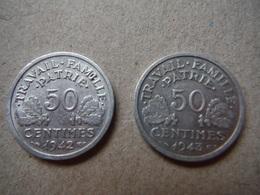 P87   2 X 50 Centimes Etat Français - 1942, 1943 - France