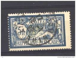 France  :  Yv  123a  (o)   Olive - 1900-27 Merson