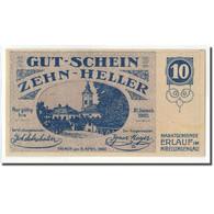 Billet, Autriche, Erlauf, 10 Heller, Eglise, 1920, 1920-06-05, SPL, Mehl:FS 181a - Autriche