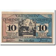 Billet, Autriche, Enzesfeld, 10 Heller, Eglise, 1920, 1920-06-05, SPL, Mehl:FS - Autriche