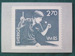Sweden 1985 FDC Maxicard Table Tennis - Sweden