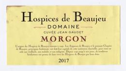 """Etiquette """" HÔSPICES DE BEAUJEU - MORGON 2017 Cuvée Jean Gaudet """" (2511)_ev397 - Bourgogne"""