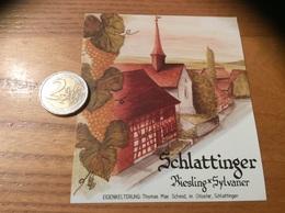 Etiquette Vin Suisse «RIESLING-SYLVANER - EIGENKELTERUNG - Thomas Max Schmid, Im Chloster - Schlattinger » - White Wines