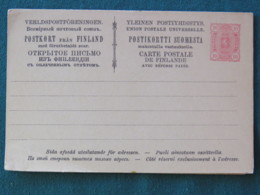Finland Unused Stationery Postcard With Answer - Arms Lion - Finlande