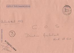 LSC 1987 -AMBULANTS - Cachet Convoyeur VALENCIENNES à PARIS 2°  B  & Griffe Idem (signée) - Postmark Collection (Covers)