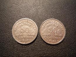 P89   2 X 50 Centimes Etat Français - 1942, 1943 - France
