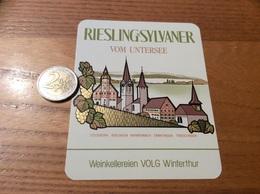 Etiquette Vin Suisse «RIESLING-SYLVANER - VOM UNTERSEE - Weinkellereien VOLG Winterthur » - White Wines