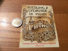 Etiquette Vin Suisse «RIESLING-SYLVANER - Christian Pot Et Fils - VOUVRY VS » - White Wines