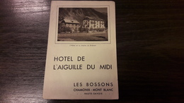 74 Brochure Hotel De L Aiguille Du Midi Les Bossons Chamonix - Dépliants Touristiques