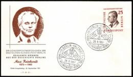 BER SC #9N153 1957 Max Reinhardt FDC 09-28-1957 - [5] Berlin