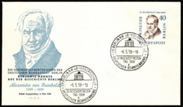 BER SC #9N155 1959 Alexander Von Humboldt FDC 05-06-1959 - FDC: Covers