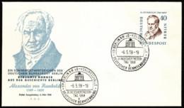 BER SC #9N155 1959 Alexander Von Humboldt FDC 05-06-1959 - [5] Berlin