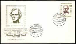 BER SC #9N156 1957 Christian Rauch FDC 12-03-1957 - [5] Berlin