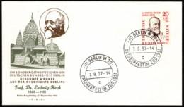 BER SC #9NB19 1957 Ludvig Heck FDC 09-07-1957 - [5] Berlin