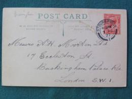 United Kingdom 1927 Postcard To London - King - Royaume-Uni