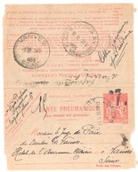 CLAMART Pneumatique Dest Vanves Ob 23 5 1933 Carte Lettre 1,50 F Chaplain Yv 2605 Storch O2 Arrivée Le Lendemain - Pneumatiques