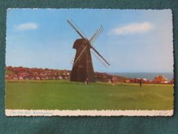 "United Kingdom 1984 Postcard ""Old Mill Rottingdean"" To Cleveland - European Parliament - Woman On Horse - United Kingdom"
