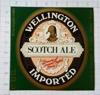 ETIQUETTE BRASSERIE UNION JUMET WELLINGTON SCOTCH ALE  IMPORTED ITALIE - Beer